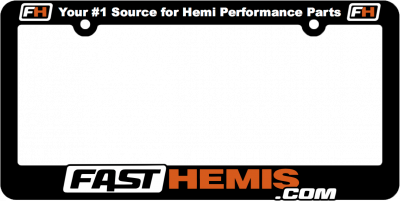 Shop by Parts - HEMI SWAG - FastHemis - FastHemis License Plate Frame