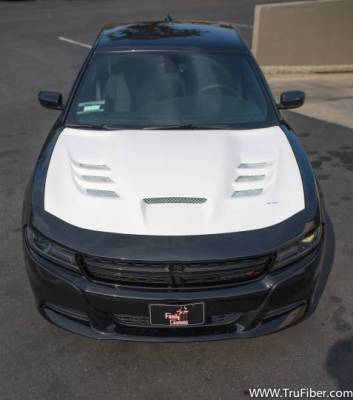 Dodge Charger Carbon Fiber Parts - Dodge Charger Carbon Fiber Hood - TruFiber - TruFiber A80 Fiberglass Hood: Dodge Charger 2015 - 2021