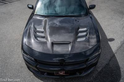 Dodge Charger Exterior Parts - Dodge Charger Hood - TruCarbon - TruCarbon A80 Carbon Fiber Hood: Dodge Charger 2015 - 2018