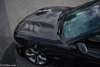 TruCarbon - TruCarbon A80 Carbon Fiber Hood: Dodge Charger 2015 - 2020 - Image 3