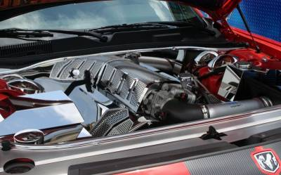 American Car Craft - American Car Craft Fuel Rail Covers Polished / Perforated (Aftermarket Air Box): Chrysler 300C / Dodge Challenger / Charger / Magnum 6.1L SRT8 2006 - 2010 - Image 10