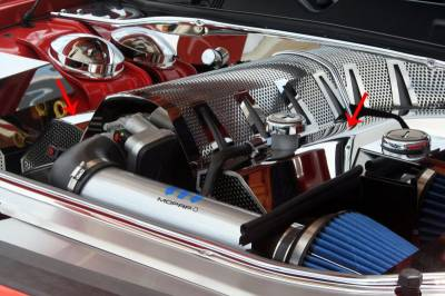 American Car Craft - American Car Craft Fuel Rail Covers Polished / Perforated (Aftermarket Air Box): Chrysler 300C / Dodge Challenger / Charger / Magnum 6.1L SRT8 2006 - 2010 - Image 6