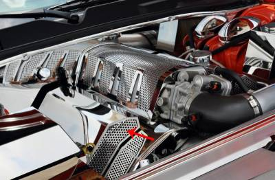 American Car Craft - American Car Craft Fuel Rail Covers Polished / Perforated (Aftermarket Air Box): Chrysler 300C / Dodge Challenger / Charger / Magnum 6.1L SRT8 2006 - 2010 - Image 5