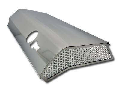 American Car Craft - American Car Craft Fuel Rail Covers Polished / Perforated (Factory Air Box): Challenger / Charger / Magnum / 300 6.1L SRT8 2006 - 2010 - Image 3