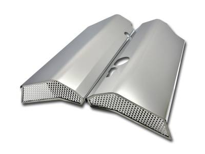 American Car Craft - American Car Craft Fuel Rail Covers Polished / Perforated (Factory Air Box): Challenger / Charger / Magnum / 300 6.1L SRT8 2006 - 2010 - Image 1