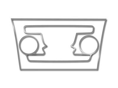 American Car Craft - American Car Craft Polished A/C Radio Control Trim Ring 2Pc:  Chrysler 300 2011-2013 - Image 3