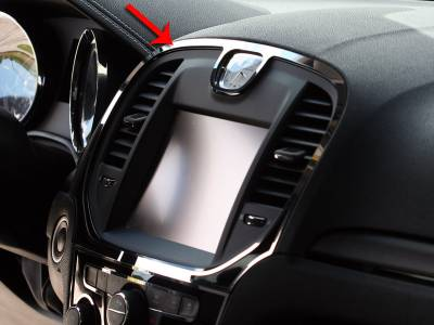American Car Craft - American Car Craft Polished Navigation Center A/C Vent Trim Ring 2Pc:  Chrysler 300 2011 - 2014 - Image 2