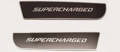 """American Car Craft - American Car Craft Front Carbon Fiber """"SUPERCHARGED"""" Door Badge 2pc: Dodge Charger 2011 - 2020 - Image 3"""