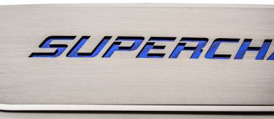 "American Car Craft - American Car Craft Front Brushed ""SUPERCHARGED"" Door Badge 2pc: Dodge Charger 2011 - 2021 - Image 4"