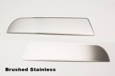 American Car Craft - American Car Craft Front Door Badge Brushed / Polished Trim 2pc: Dodge Charger 2011-2015