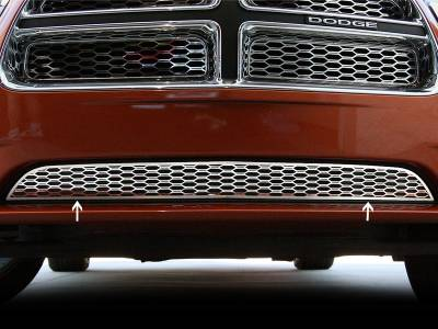 American Car Craft - American Car Craft Lower Polished Grille Overlay: Dodge Charger R/T 2011 - 2014 - Image 2