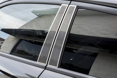 American Car Craft - American Car Craft Carbon Fiber Door Pillar Plate with Brushed Trim: Dodge Charger 2011 - 2021 - Image 2