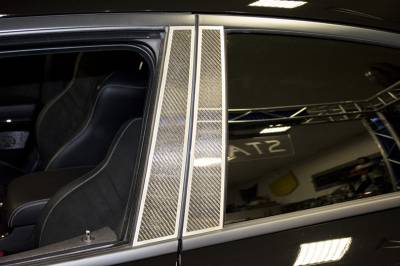 American Car Craft - American Car Craft Carbon Fiber Door Pillar Plate with Brushed Trim: Dodge Charger 2011 - 2021 - Image 3