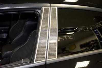 American Car Craft - American Car Craft Carbon Fiber Door Pillar Plate with Brushed Trim: Dodge Charger 2011 - 2020 - Image 3