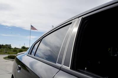 American Car Craft - American Car Craft Carbon Fiber Door Pillar Plate with Polished Trim: Dodge Charger 2011-2020 - Image 4