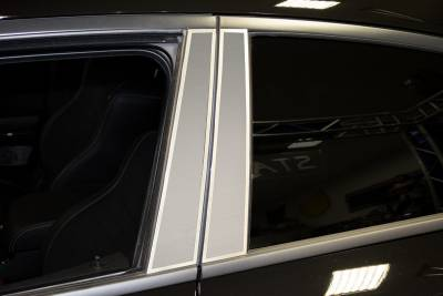 American Car Craft - American Car Craft Brushed Stainless Door Pillar Trim: Dodge Charger 2011-2018