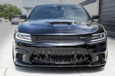 HEMI EXTERIOR PARTS - Hemi Grilles - American Car Craft - American Car Craft Sabretooth Grille: Dodge Charger 6.2L SRT Hellcat 2015- 2019
