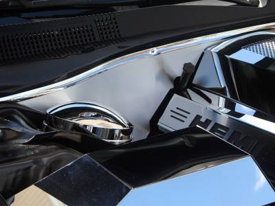 Dodge Charger Engine Accessories - Dodge Charger Stainless Accessories - American Car Craft - American Car Craft Brushed Firewall Cover: Dodge Charger / Chrysler 300 5.7L 2009 - 2020