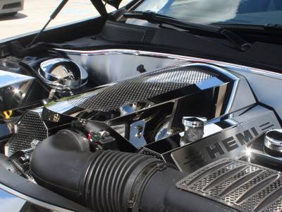 American Car Craft - American Car Craft Perforated Illuminated Plenum Cover: Dodge Charger / Chrysler 300 5.7L 2009 - 2021 - Image 4