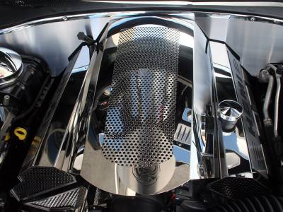 American Car Craft - American Car Craft Perforated Illuminated Plenum Cover: Dodge Charger / Chrysler 300 5.7L 2009 - 2021 - Image 2