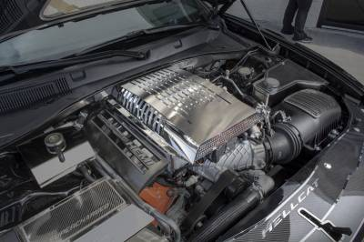 American Car Craft - American Car Craft Supercharger Engine Cover: Dodge Challenger 6.2L SRT Hellcat 2015 - 2020 - Image 2