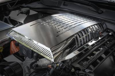 American Car Craft - American Car Craft Supercharger Engine Cover: Dodge Challenger 6.2L SRT Hellcat 2015 - 2020 - Image 4