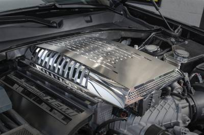Dodge Charger Engine Accessories - Dodge Charger Stainless Accessories - American Car Craft - American Car Craft Supercharger Engine Cover: Dodge Charger 6.2L SRT Hellcat 2015 - 2019