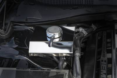 American Car Craft - American Car Craft Polished Supercharger Coolant Tank Cover: Dodge Challenger 6.2L SRT Hellcat 2015 - 2020 - Image 3