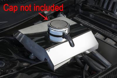 Dodge Charger Engine Accessories - Dodge Charger Stainless Accessories - American Car Craft - American Car Craft Polished Supercharger Coolant Tank Cover: Dodge Charger 6.2L SRT Hellcat 2015 - 2020