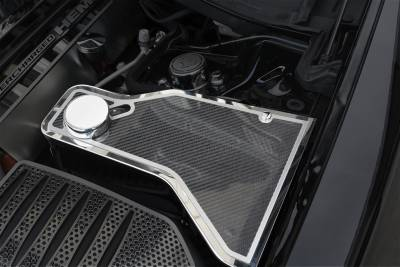 American Car Craft - American Car Craft Carbon Fiber Water Tank Top Cover Plate: Chrysler 300 / Dodge Charger 2011 - 2020 - Image 3