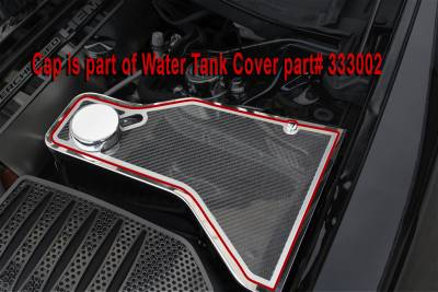 Chrysler 300 Engine Accessories - Chrysler 300 Stainless Accessories - American Car Craft - American Car Craft Carbon Fiber Water Tank Top Cover Plate: Chrysler 300 / Dodge Charger 2011 - 2020