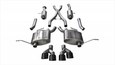 Corsa - Corsa Sport Cat-Back Exhaust (Black): Jeep Grand Cherokee 5.7L Hemi  2014 - 2020 (Summit Edition)