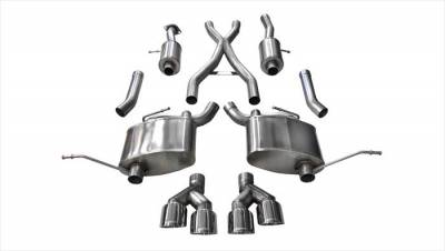 Corsa - Corsa Sport Cat-Back Exhaust (Polished): Jeep Grand Cherokee 5.7L Hemi  2014 - 2020 (Summit Edition)
