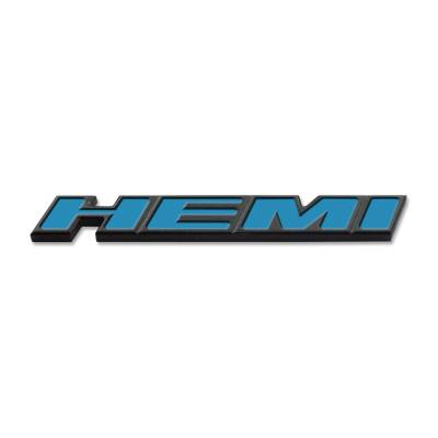 "HEMI EXTERIOR PARTS - Hemi Emblems - American Brother Designs - American Brother Designs ""HEMI""  Exterior Badge: Dodge Challenger 2015 - 2020"