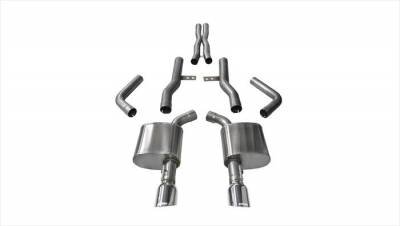 Corsa - Corsa Extreme Cat-Back Exhaust (Polished): Dodge Charger ScatPack, SRT & Hellcat 2015 - 2020
