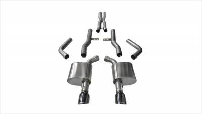 Corsa - Corsa Extreme Cat-Back Exhaust (Black): Dodge Charger ScatPack, SRT & Hellcat 2015 - 2020