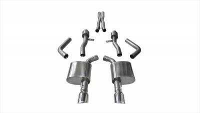 Corsa - Corsa Sport Cat-Back Exhaust (Polished): Dodge Charger ScatPack, SRT & Hellcat 2015 - 2020