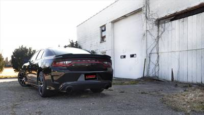 Corsa - Corsa Sport Cat-Back Exhaust (Black): Dodge Charger ScatPack, SRT & Hellcat 2015 - 2021 - Image 3