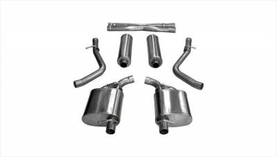 Corsa - Corsa Sport Cat-Back Exhaust: Chrysler 300C / Dodge Charger R/T 5.7L Hemi 2015 - 2018