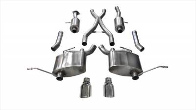 Corsa - Corsa Sport Cat-Back Exhaust (Polished): Jeep Grand Cherokee 5.7L V8 2011 - 2019