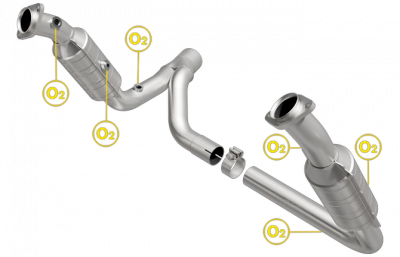 5.7L / 6.1L / 6.4L Hemi Engine Parts - Hemi Headers & Mid Pipes - Magnaflow - MagnaFlow Catalytic Converter: Dodge Ram 2007-2008 5.7L Hemi