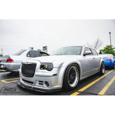 HEMI EXTERIOR PARTS - Hemi Lips & Side Skirts - APR - APR Carbon Fiber Front Wind Splitter w/ Rods: Chrysler 300C SRT8 2006 - 2010