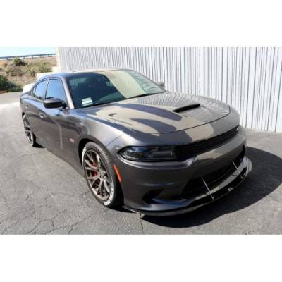 HEMI EXTERIOR PARTS - Hemi Spoilers - APR - APR Carbon Fiber Front Wind Splitter w/ Rods: Dodge Charger SRT / Scat Pack / Hellcat 2015 - 2017
