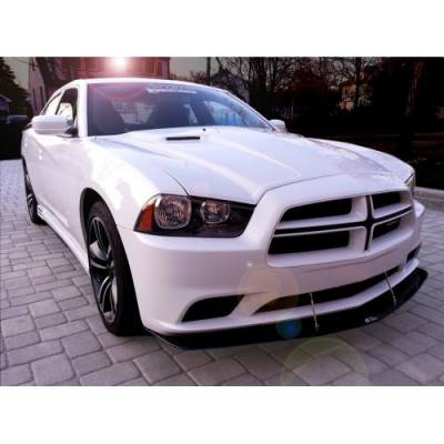 APR - APR Carbon Fiber Front Wind Splitter w/ Rods: Dodge Charger 2011 - 2014 (Non SRT8) - Image 3