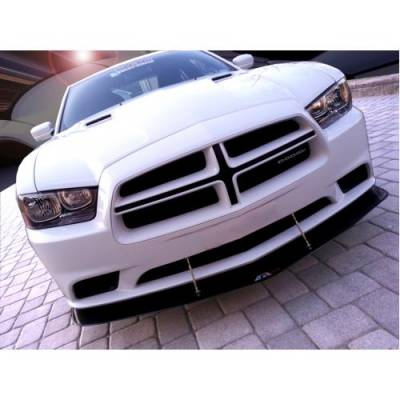 HEMI CARBON FIBER PARTS - Hemi Carbon Fiber Lip & Skirt - APR - APR Carbon Fiber Front Wind Splitter w/ Rods: Dodge Charger 2011 - 2014 (Non SRT8)