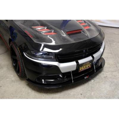 APR - APR Carbon Fiber Front Wind Splitter w/ Rods: Dodge Charger R/T & SXT 2015 - 2020 - Image 3