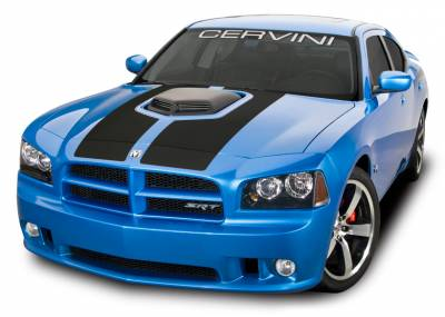 HEMI EXTERIOR PARTS - Hemi Hoods - Cervini's - Cervinis Shaker Hood Kit: Dodge Charger 2006 - 2010 (All Models)