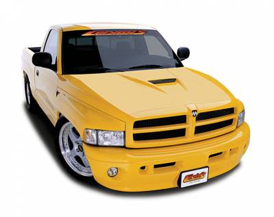 HEMI EXTERIOR PARTS - Hemi Hoods - Cervini's - Cervinis SS Hood: Dodge Ram 1994 - 2001 (All Models)