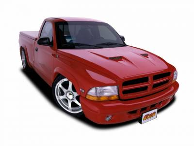 HEMI EXTERIOR PARTS - Hemi Hoods - Cervini's - Cervinis Ram Air Hood: Dodge Dakota 1997 - 2004