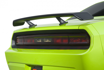 HEMI EXTERIOR PARTS - Hemi Trim Accessories - Cervini's - Cervinis Pedestal Rear Spoiler: Dodge Challenger 2008 - 2020 (All Models)